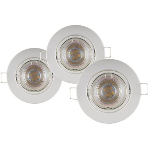 Sencys inbouwspot LED GU10 richtbaar 230 lum 3x4W 36° rond wit