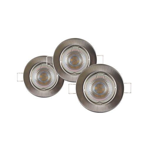 Sencys inbouwspot LED GU10 richtbaar 230 lum 3x4W 36° rond staal