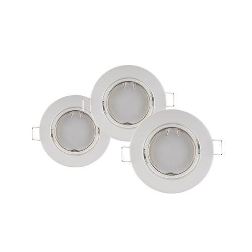 Sencys inbouwspot LED GU10 vast 345 lum 3x5W 110° rond wit
