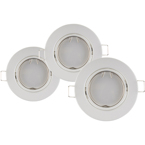 Sencys inbouwspot wit 50W – 3 stuks