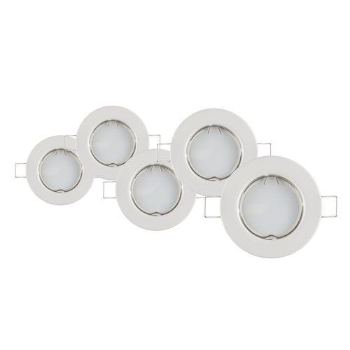 Baseline inbouwspot LED GU10 vast 230 lum 5x4W 110° rond wit