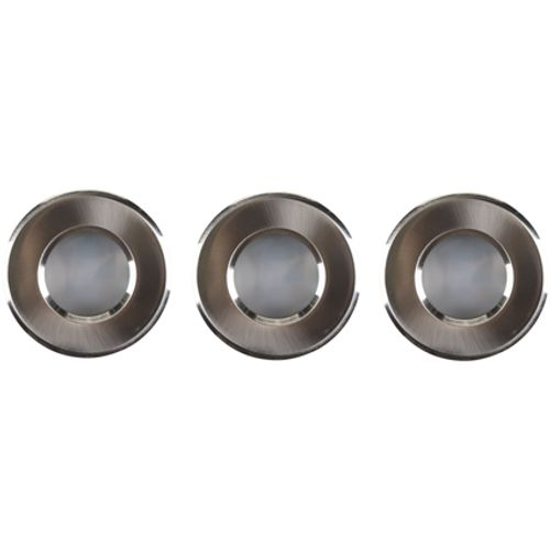 Spot encastrable Sencys nickel 4W – 3 pcs