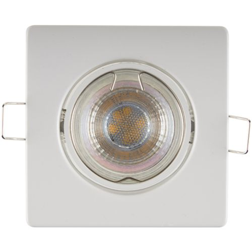 Sencys inbouwspot LED GU10 richtbaar 345 lum 1x5W 36° vierkant staal