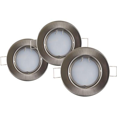 Sencys inbouwspot LED GU10 vast 230 lum 3x4W 110° rond staal - IP44