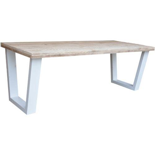 Wood4You eettafel industrieel V-poot steigerhout 180x90cm