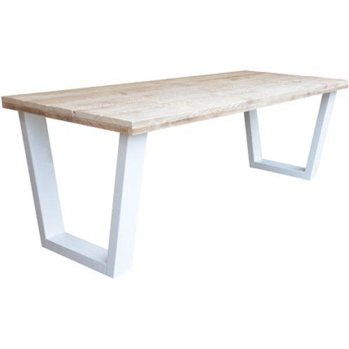 Wood4You eettafel industrieel V-poot steigerhout 200x90cm