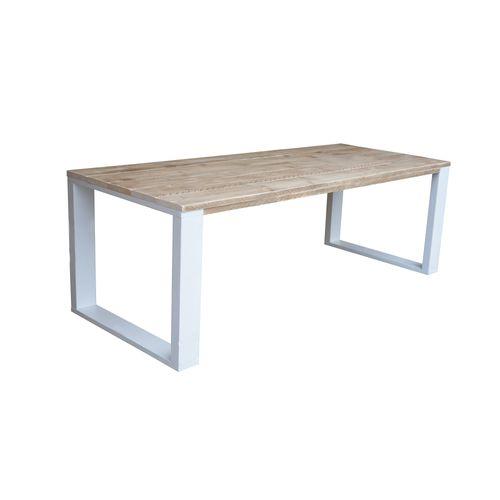 Wood4You eettafel industrieel vierkante poot steigerhout 180x90cm
