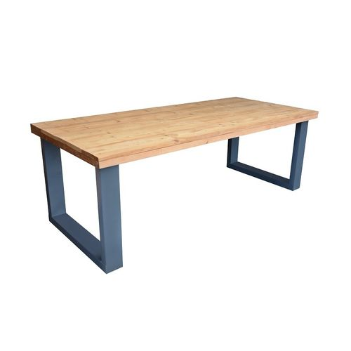 Wood4You eettafel industrieel U-poot roasted wood 220x90cm
