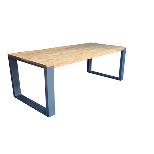 Wood4You eettafel industrieel vierkante poot roasted wood 180x90cm