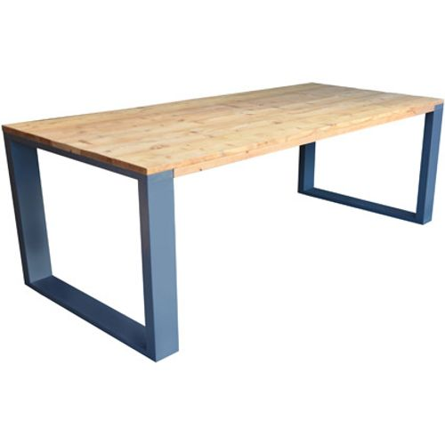 Wood4You eettafel industrieel vierkante poot roasted wood 220x90cm