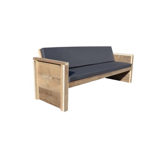 Wood4You tuinbank Vlieland bouwpakket steigerhout met kussens 180cm
