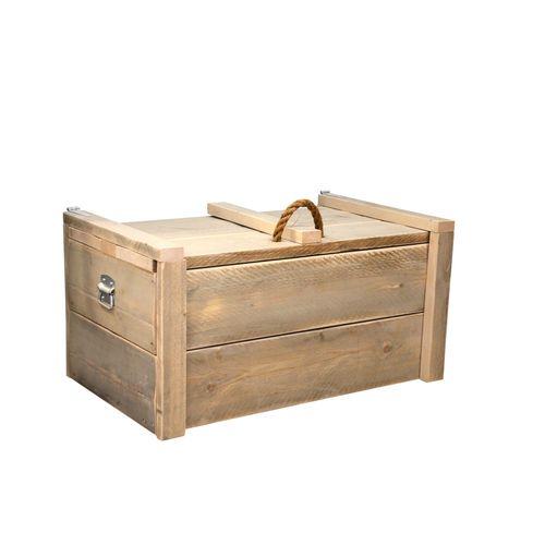 Wood4You speelgoedkist Army steigerhout