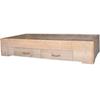 Wood4You bed steigerhout met 2 lades montagepakket