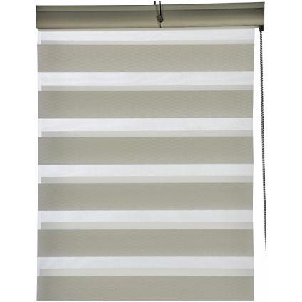 Store enrouleur tamisant Madeco 'Roll Jalousy Jacquard' blanc 60 x 250 cm