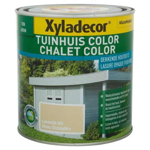 Xyladecor houtbeits 'Color' landelijk wit 1L