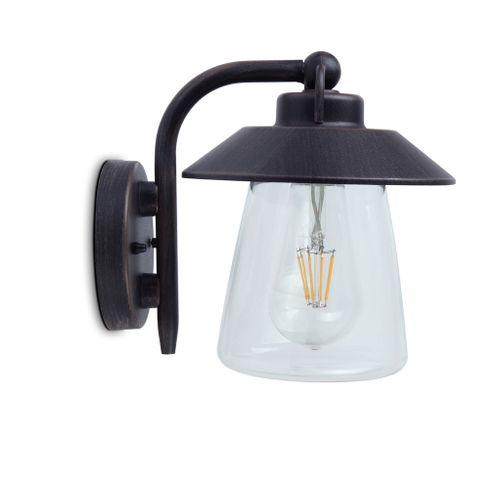 Lutec wandlamp Cate bruin
