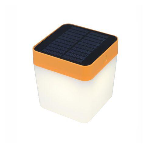 Lutec tafellamp solar Cube oranje 1W