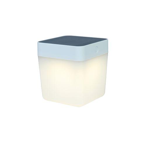 Lutec tafellamp solar Cube wit 1W