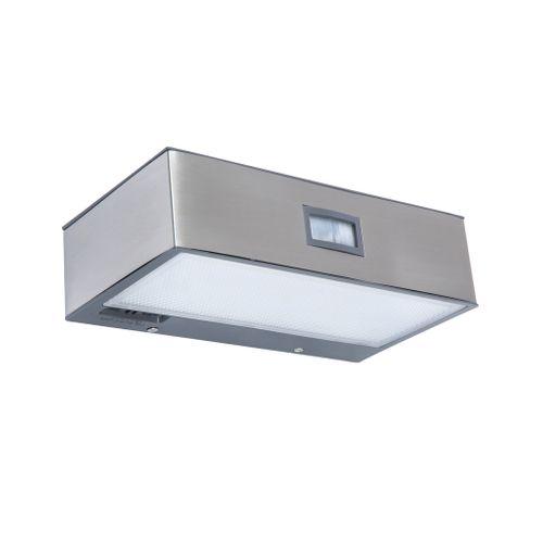 Lutec wandlamp Brick solar roestvrij staal 2W