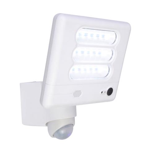 Lutec wandlamp buiten met bewegingsdetector 'Esa' wit 25W