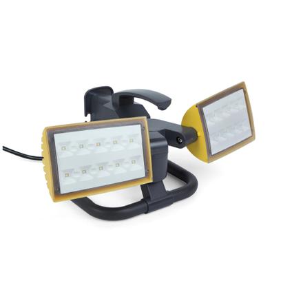 Lutec tafellamp Peri grijs/geel 21W