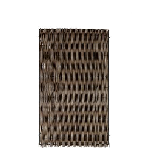 Videx tuinscherm Malmoe kunststof 90x150cm bruin