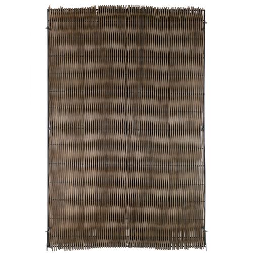 Brise-vue Videx Malmö plastique brun 20x180cm