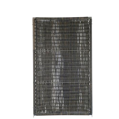 Videx tuinscherm Oeland kunststof 90x150cm bruin