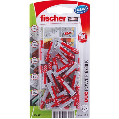 Cheville universelle Fischer 'Duopower' 30 mm x 6 mm - 28 pcs