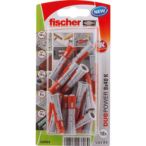 Fischer universeelplug 'Duopower' 40 x 8 mm - 18 stuks