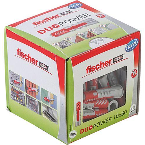 Fischer nylon plug DuoPower universeelplug 10x50 50st.