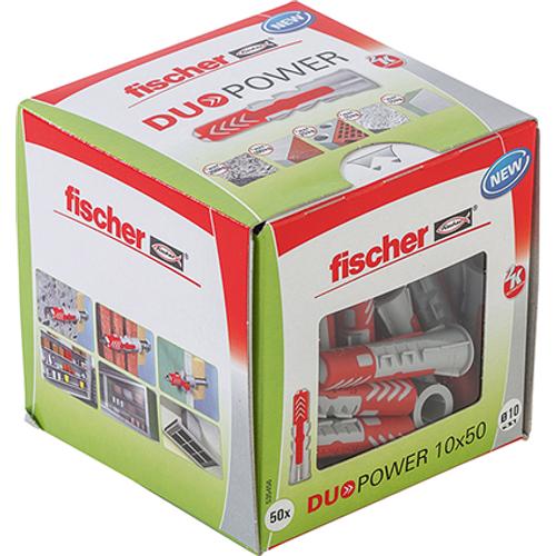 Fischer universeelplug 'Duopower' 50 x 10 mm - 50 stuks