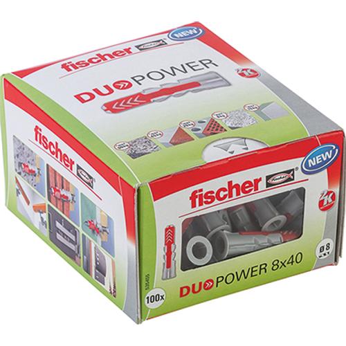 Fischer universeelplug 'Duopower' 40 x 8 mm - 100 stuks