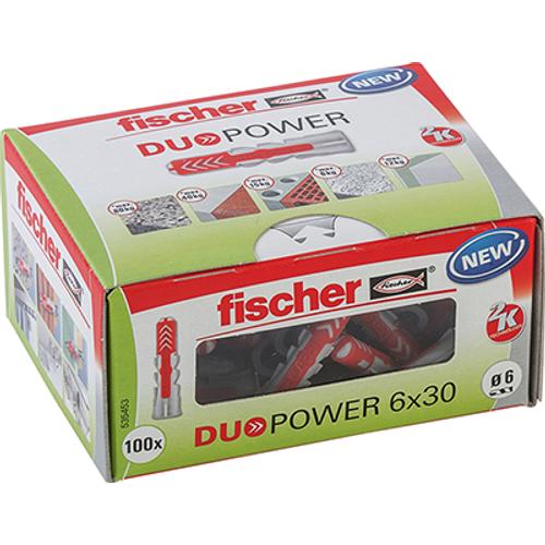 Fischer universeelplug 'Duopower' 30 x 6 mm - 100 stuks