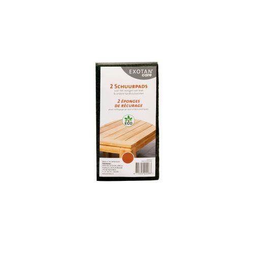 Exotan 'Care' schuurpads voor tuinmeubelen hout bruin - 2 stuks