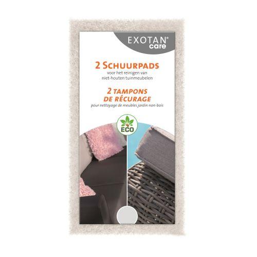 Exotan Care schuurpads voor tuinmeubelen wit 2 stuks
