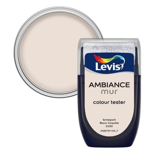 Peinture Levis 'Ambiance' blanc coquille mat 30ml
