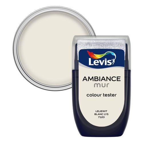 Peinture Levis 'Ambiance' blanc lys mat 30ml