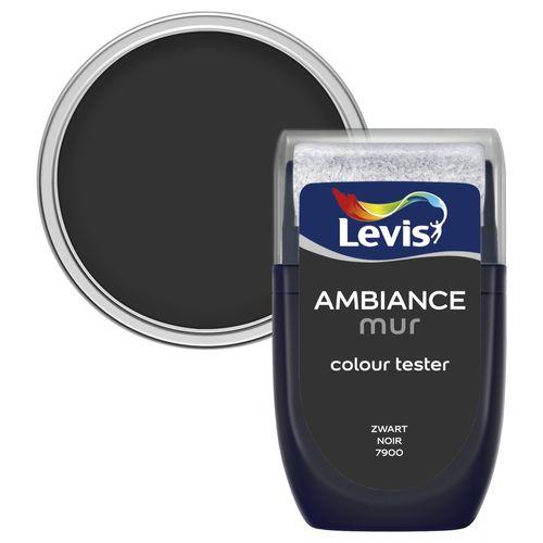 Levis muurverf 'Ambiance' zwart mat 30ml