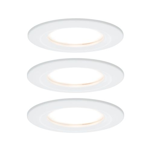 Spot encastré LED Paulmann Coin Slim blanc 3x6,8W