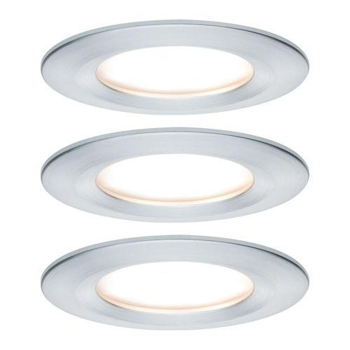 Spot encastré LED Paulmann Slim Coin aluminium 3x6,8W