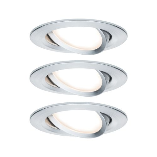 Paulmann inbouwspot LED Coin Slim kantelbaar aluminium 3x6,8W
