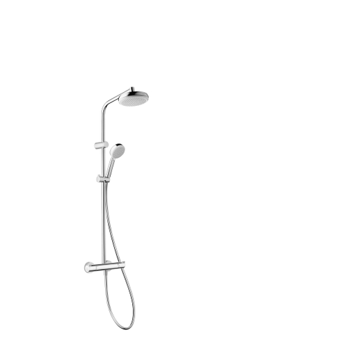 Colonne de douche + mitigeur thermostatique Hansgrohe MyClub Eco chrome