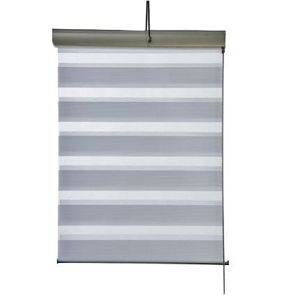 Store enrouleur tamisant Madeco 'Roll Jalousy Lurex' blanc 60 x 250 cm