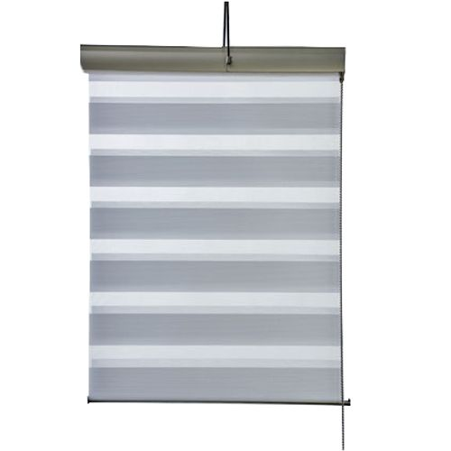 Store enrouleur tamisant Madeco 'Roll Jalousy Lurex' blanc 60 x 250 cm