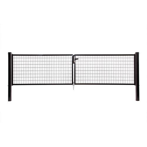 Giardino dubbele poort zwart H100/2x150cm