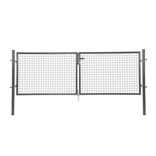 Giardino dubbele poort grijs 300x200cm