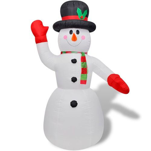 vidaXL Opblaasbare sneeuwpop 240 cm