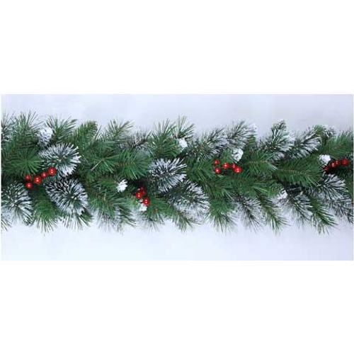 Central Park kerstslinger met besjes 1,8m