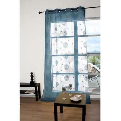 Voilage 'Lana' tamisant bleu 140 x 260 cm